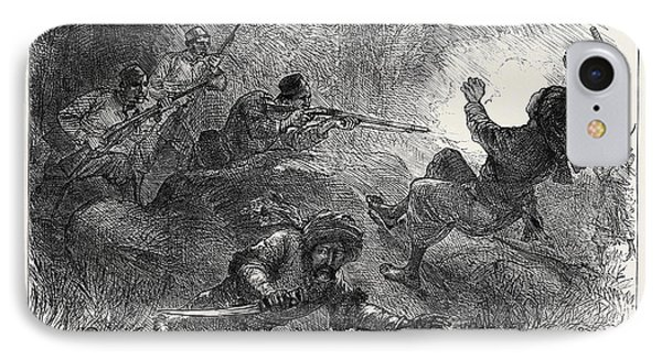 The Afghan War Trapping Loose-wallahs 1879 IPhone Case by English School