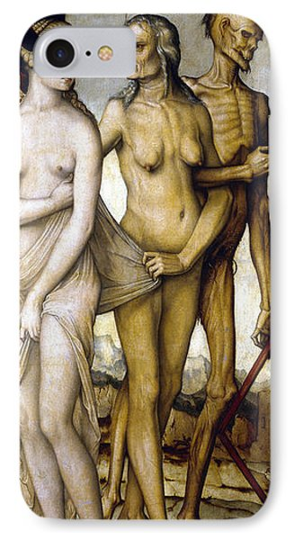 The Ages Of Man And Death Phone Case by Hans Baldung