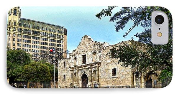 IPhone Case featuring the photograph The Alamo by Ricardo J Ruiz de Porras