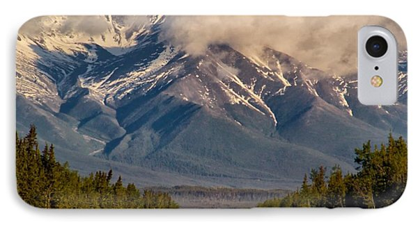 IPhone Case featuring the photograph The Alaska Highway Tok Junction Alaska by Michael Rogers