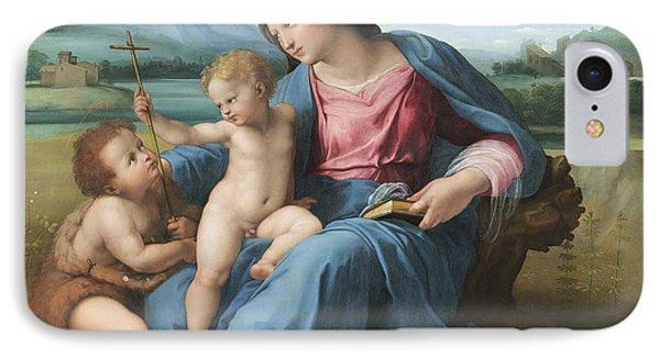 The Alba Madonna Phone Case by Raffaello Sanzio of Urbino