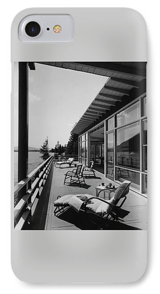 The Alfred Rose Lake Placid Summer Home IPhone Case by Robert M. Damora