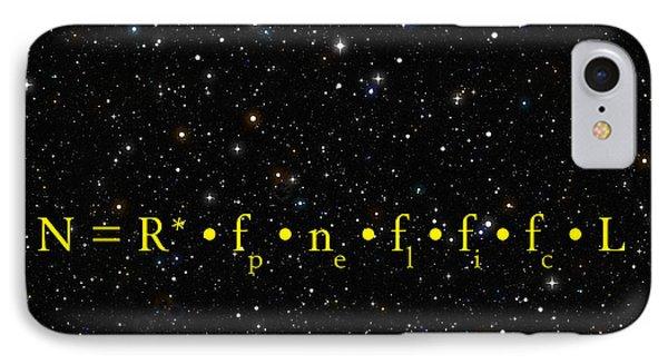 The Alien Equation - Scientific Estimate Of Techno Alien Civilizations IPhone Case by Daniel Hagerman