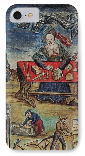 The Allegory Of Geometry, 16th Century IPhone Case by Science Source