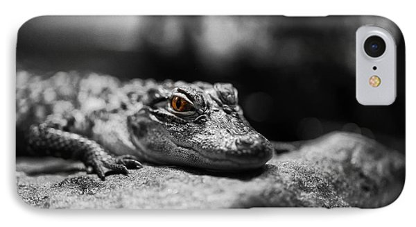 The Alligator's Eying You Phone Case by Linda Leeming