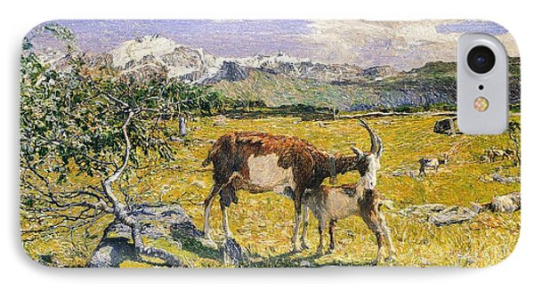 The Alps In May Phone Case by Giovanni Segantini
