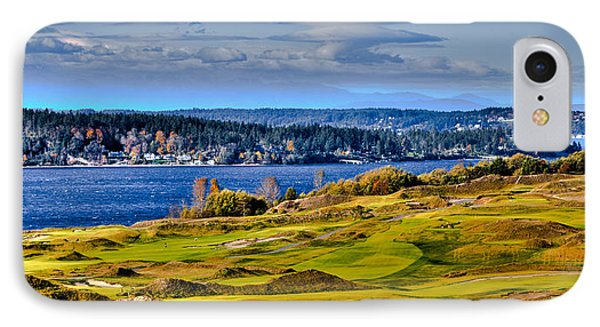 The Amazing Chambers Bay Golf Course - Site Of The 2015 U.s. Open Golf Tournament IPhone Case by David Patterson