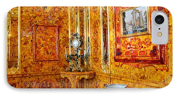 The Amber Room At Catherine Palace IPhone Case by Catherine Sherman