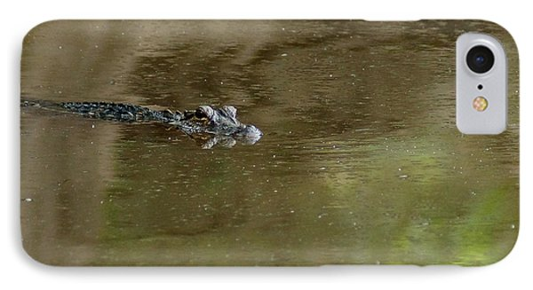 The American Alligator In The Flint River Phone Case by Kim Pate