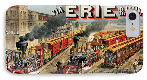 The American Railway Scene  IPhone Case by Currier and Ives