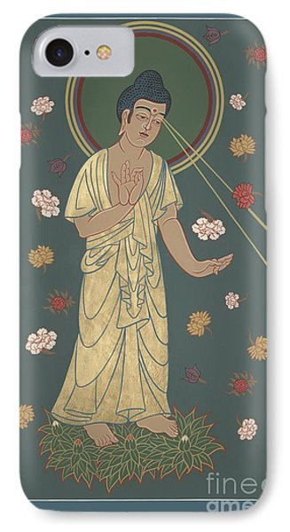 IPhone Case featuring the painting The Amitabha Buddha Descending 247 by William Hart McNichols