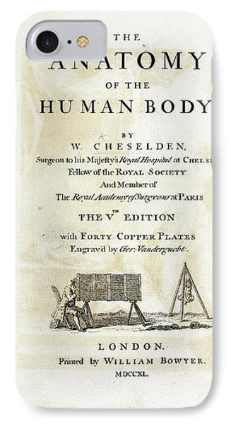 The Anatomy Of The Human Body (1740) IPhone Case by British Library
