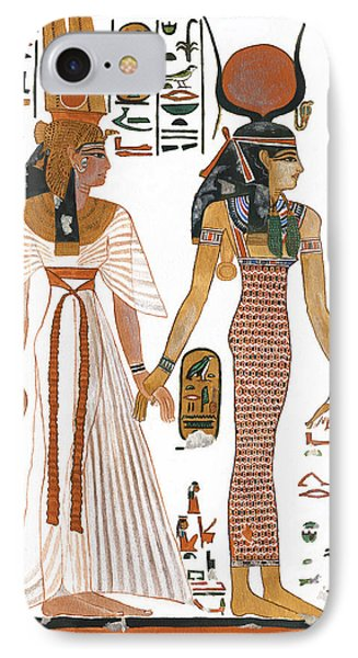 The Ancient Egyptian Goddess Isis Leading Queen Nefertari Phone Case by Ben  Morales-Correa