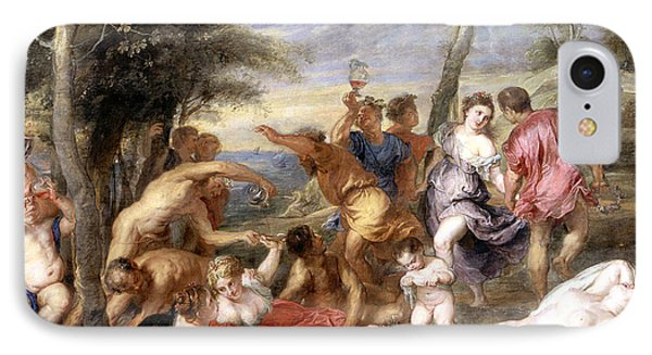 The Andrians A Free Copy After Titian IPhone Case by Peter Paul Rubens
