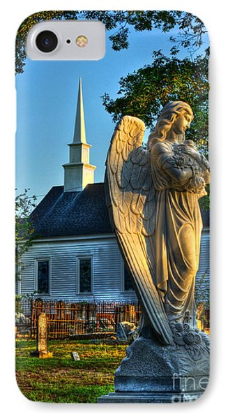 The Angel Guardian Of Walker United Methodist Church IPhone Case by Reid Callaway