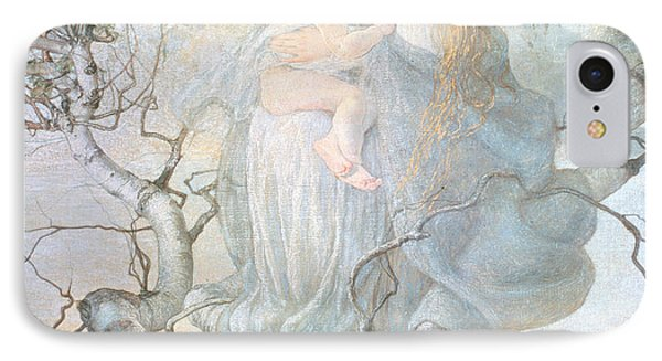 The Angel Of Life Phone Case by Giovanni Segantini