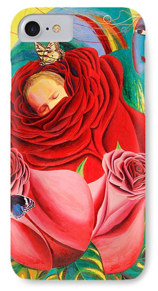 The Angel Of Roses Phone Case by Israel Tsvaygenbaum