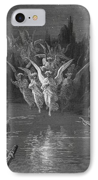The Angelic Spirits Leave The Dead Bodies And Appear In Their Own Forms Of Light Phone Case by Gustave Dore