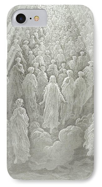 The Angels In The Planet Mercury IPhone Case by Gustave Dore