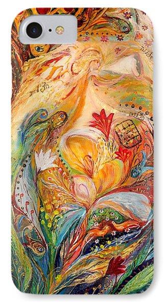 The Angels On Wedding Triptych - Left Side Phone Case by Elena Kotliarker