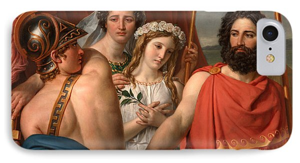 The Anger Of Achilles IPhone Case by Jacques-Louis David