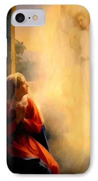 The Annunciation IPhone Case by Carl Bloch