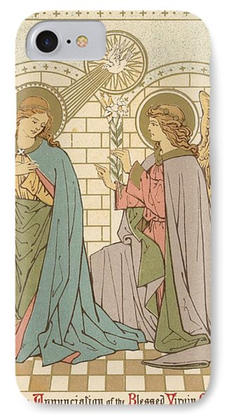The Annunciation Of The Blessed Virgin Mary IPhone Case by English School