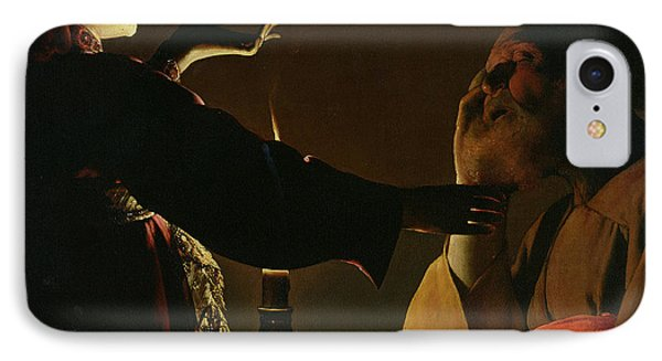 The Appearance Of The Angel To Saint Joseph IPhone Case by Georges de la Tour