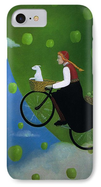 IPhone Case featuring the painting The Apple Transport by Tone Aanderaa