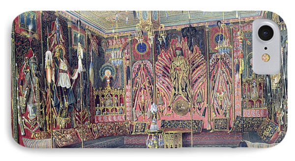 The Arabian Hall In The Catherine Palace At Tsarskoye Selo, C.1850 Wc & White Colour On Paper IPhone Case