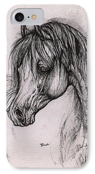 The Arabian Horse With Thick Mane Phone Case by Angel  Tarantella