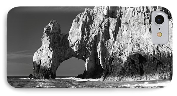 The Arch Cabo San Lucas In Black And White IPhone 7 Case by Sebastian Musial