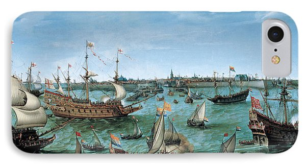 The Arrival At Vlissingen Of The Elector Palatinate Frederick V IPhone Case