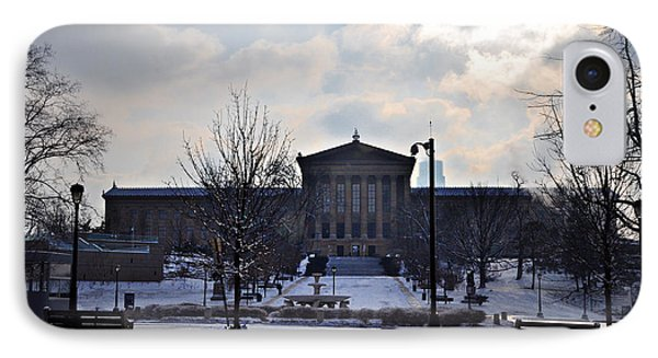 The Art Museum In The Snow Phone Case by Bill Cannon