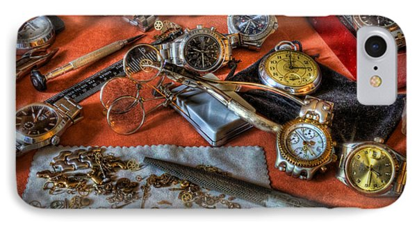 The Art Of The Timepiece - Watchmaker  Phone Case by Lee Dos Santos