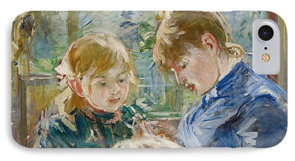The Artists Daughter Phone Case by Berthe Morisot