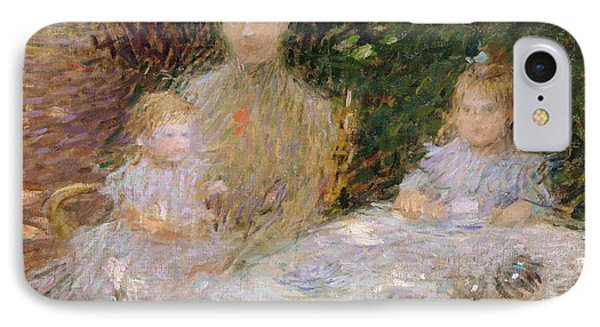 The Artist's Family In The Garden IPhone Case by Ernest-Joseph Laurent