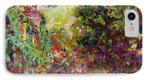 The Artists House From The Rose Garden IPhone Case by Claude Monet