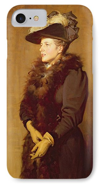 Boa Constrictor iPhone 7 Case - The Artists Wife, 1893 by Robert Gibb