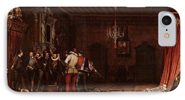 The Assassination Of The Duke Of Guise In Chateau De Blois IPhone Case by Paul Delaroche