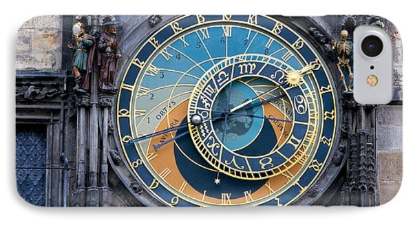The Astronomical Clock In Prague Phone Case by Michal Bednarek