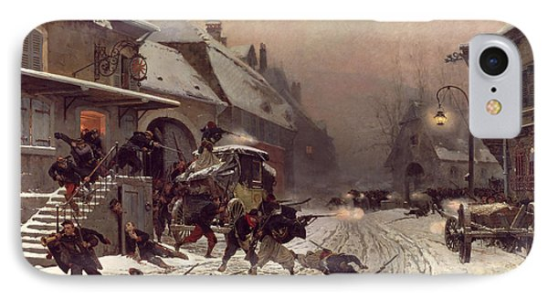 The Attack At Dawn Phone Case by Alphonse Marie De Neuville