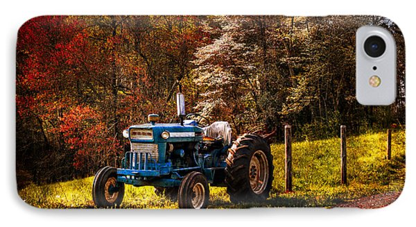 The Autumn Blues Phone Case by Debra and Dave Vanderlaan