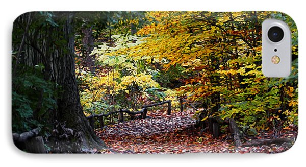 IPhone Case featuring the photograph The Autumn Path by Yue Wang
