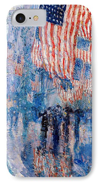 The Avenue In The Rain Phone Case by Frederick Childe Hassam