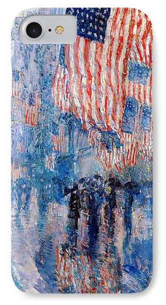 The Avenue In The Rain IPhone Case by Frederick Childe Hassam