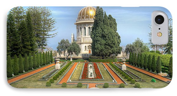 The Bahai Gardens IPhone Case by Uri Baruch