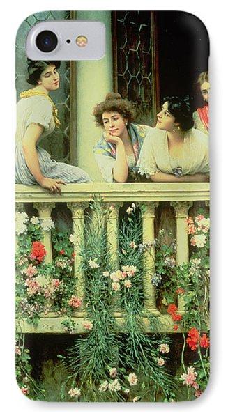 The Balcony IPhone Case by Eugen von Blaas