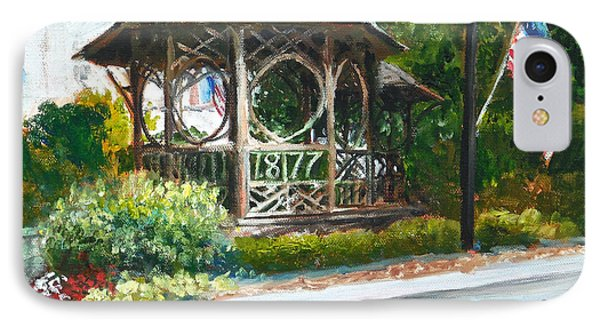 The Bandstand In Triangle Park Chagrin Falls IPhone Case