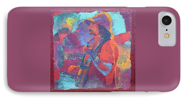 IPhone Case featuring the painting The Banjo Player by Nancy Jolley